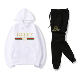 Men joggers suits online shopping - 8 GUCCI Men s Tracksuits sportswear Hoodie pants Sets Tracksuits deportivo Women Sportanzug Sports Hoodie Casual Jogger Suit