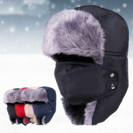 $enCountryForm.capitalKeyWord NZ - Outdoor Winter Thickened Windproof Hiking Skiing Hats Cycling Earflap Caps Keep Warm Russian Full Face Mask Bomber Trapper Hat ZZA822