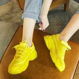 $enCountryForm.capitalKeyWord Australia - 1Summer Women Chunky Sneakers Green Yellow Platform Casual Shoes Women 2019 Colorful Fashion Mesh Dad Sneakers Tenis Basket Femme