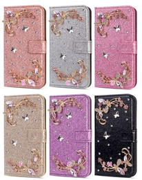 Sparkle powder online shopping - Wallet Leather For Huawei P30 Pro P20 Lite Mate Pro Case Bling Butterfly Flower Luxury Glitter Powder Diamond Sparkle Flip Cover Pouch