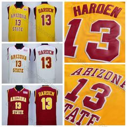 ArizonA stAte jersey online shopping - James Harden Jerseys Arizona State Sun Devils Stitched Yellow Red White James Harden College Basketball Jerseys University Shirts