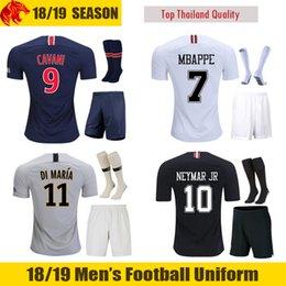 ded073df2 18 19 PSG Soccer Jersey 2018 2019 Paris MBAPPE Footall Uniform NEYMAR JR saint  germain Soccer Sets DI MARIA Football Kits PSG third maillot