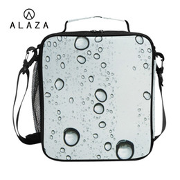 print glass Australia - ALAZA Rain Drops On Glass Thermal Lunch Bag for Women 3D Printing Cooler Lunch Box Bag Insulation Portable Picnic 2019