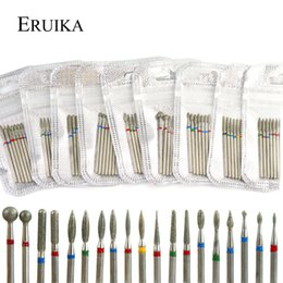 rotary drill bits UK - eauty & Health 7PCS Diamond Nail Drill Bit Set Electric Milling Cutters For Manicure Rotary Burr Cuticle Clean Manicure Drill Accesso...