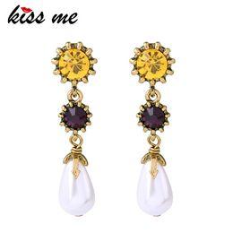 $enCountryForm.capitalKeyWord Australia - Chic Champagne Glass Crystal Imitation Pearl Teardrop Drop Earrings Luxury Fashion Dangling Earrings Party Jewelry