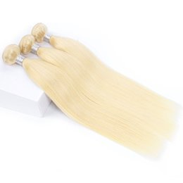 Two bundles hair weaving online shopping - 1kg bundles Blonde Extensions Virgin Hair Straight Two Tone Ombre Brazilian Indian Peruvian Remy Human Hair Weave Bundle