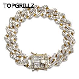 $enCountryForm.capitalKeyWord Australia - Topgrillz Personality Hip Hop punk Men's Bracelets Iced Out Cubic Zircon Miami Curb Cuban Link Chain Bracelet Jewelry Gifts J190625