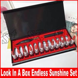 Matte eyeliner pens online shopping - Look in a Box Endless Sunshine Feather Eyeliner Pen Mascara Matte Lipstick set Makeup Set