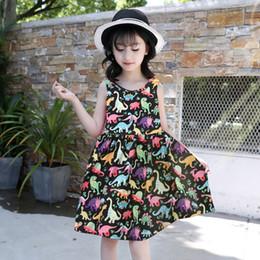 e422a571ba39e 2019 Nouvelles Filles Dinosaure Imprimé Princesse Robe D été Vente Chaude  Sans Manches Gilet Robes Enfants Design Vêtements Vêtements Vêtements De  Plage