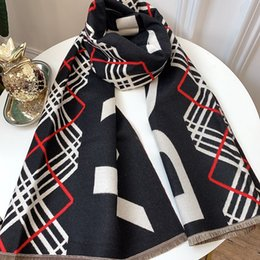 $enCountryForm.capitalKeyWord NZ - B451, 85, 2019 winter new scarf, cashmere blend, soft warm, double-sided two-color, scarf shawl can be used, size 180 * 70. letter printing.