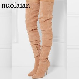 70859f731bfc Discount womens high heel long boots - 10.5CM High Heels Over The Knee  Boots Woman