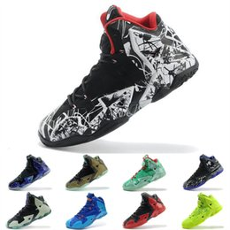 cheap basketball shoes size 11 NZ - Cheap Men What the Lebron 11 XI Kids basketball shoes Easter BHM Christmas Blue Floral MVP air sneakers boots tennis for sale