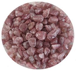 Crystal Chips NZ - C41 15~18mm Natural Strawberry Specimens Crystals Quartz Stone Chips Beads Gemstone Aquarium