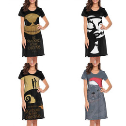 hollow out design dress red Australia - Womens design printing pitbull nightmare before christmas white plus size shirt dress designer band awesome loungewear fashion novelty