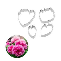 $enCountryForm.capitalKeyWord Australia - Bakeware Tools 4pcs set Peony Flower Petal Fondant Cake Mold Cookie Cutter Cake Decorating Tools Kitchen Accessories Stainless Steel