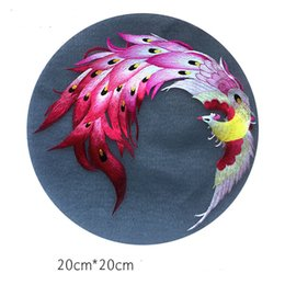 chinese fabric dragons UK - Double- side Chinese Suzhou Hand Embroidery Dragon Round 20cm use for Bag Clothing Hand Fan Hanging Painting Decoration Ornaments etc