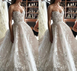 $enCountryForm.capitalKeyWord Australia - Unique Design Wedding Dresses 2019 Sweetheart Appliques Sweep Train A Line Modern Church Bridal Gown Elegant Castle Chapel Vestidoe De Noiva