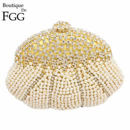 $enCountryForm.capitalKeyWord Australia - Nice- Gift Box Women Socialite Crystal Beaded Evening Clutches Bag Pearl Hollow Out Handbags Diamond Wedding Dress Bridal Clutch Purse