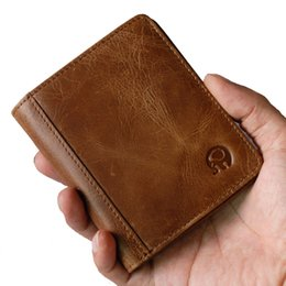 Handmade cowHide purses online shopping - 100 Genuine Leather Small Mini Ultra thin Wallets men Compact wallet Handmade wallet Cowhide Card Holder Short Design purse