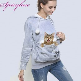 Wholesale Factory Seller Cat Lovers Hoodie Kangaroo Dog Pet Paw Dropshipping Pullovers Cuddle Pouch Sweatshirt Pocket Animal Ear Hooded Y190812