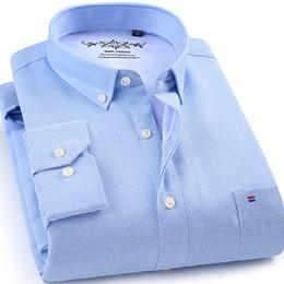 red black striped shirt men 2019 - Winter mens work shirts striped solid color Long sleeve social men dress shirt oxford male shirts Plus size 4XL White co