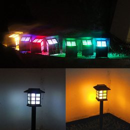 Wholesale Solar Garden Lawn Lights Colorful Insert Ground Palace Lights Landscape Small House Lamp