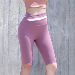 sexy black girls yoga pants NZ - Cycling Pants Short Tight Pants High Waist Thin Stretch Yoga Black Cycling Healthy Quick Dry Shorts Fitness Shorts Gym Sexy Girl