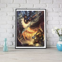 Painting Faces Australia - Warcrafts Dragon Face Fire Canvas Posters Prints Wall Art Painting Decorative Picture Artwork Modern Home Decoration