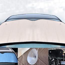 Discount reflective windshield shade - 2019 Car Windshield Sunshades Reflective Shades Car Styling Auto Windshield Sunshade Visor Dashboard Cover Block Heat Re