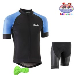 kids purple suit NZ - 2019 Kids Cycling Jersey SetChildren Cycling Clothing Summer Bike Jersey Quick Dry Bicycle Suit ropa ciclismo hombre