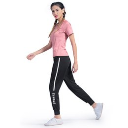 Sweat Yoga Pant Australia - Stretch Pocket Tarja Summer Breathable Sports Running Fitness Yoga Exercise Quick Dry Loose Pants Sweat Jogging Pants
