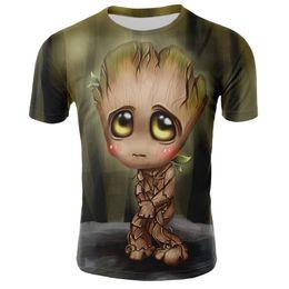 $enCountryForm.capitalKeyWord Australia - 2019 Summer Comics short sleeve Tshirt Groot Print T-shirt Men Women 3D street fashion casual Tops clothing