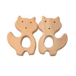 $enCountryForm.capitalKeyWord UK - 4pcs Wooden Fox shape Teether Baby Teething Toy Teething Accessories Kids Teething Pendant Nursing Holder Baby Wooden Toys