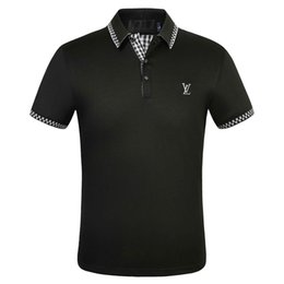 embroidered polo t shirts Canada - FF Brand designer polos men Casual t shirt Embroidered Medusa Cotton polo Shirt High street collar Luxury Polos shirts