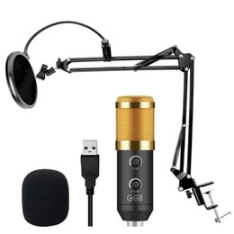 records pop NZ - USB Condenser Recording Microphone For Computer Laptop MAC Or Windows Mic For PC Studio With Pop Filter Upgraded From bm800