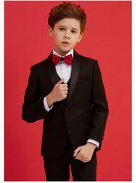 Handsome Kids Suits Australia - Handsome One Button Shawl Lapel Kid Complete Designer Handsome Boy Wedding Suit Boys' Attire Custom-made (Jacket+Pants+Tie+Vest) A13