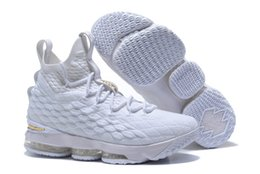 21e4b1d1028 2018 New Arrival XV LEBRON 15 EQUALITY Black White Basketball Shoes for Men  15s EP Sports Training Sneakers Size 40-46