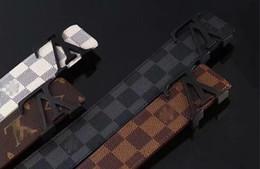 Ingrosso 2020 cinture bianche designer di lusso cinghia cinghie per gli uomini grande fibbia della cintura maschile cinture di castità mens alta moda cintura in pelle 105-125 cm