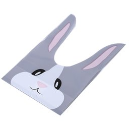 China 50PCS Pack Cartoon Red Baking Bag Snack Candy Bag Small Rabbit Ears Biscuit cheap biscuit snack bags suppliers