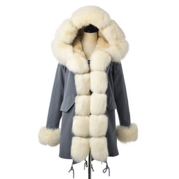 $enCountryForm.capitalKeyWord Australia - FURSARCAR Fashion 80 CM Long Jacket Real Fur Parka Women Luxury Winter Coat With Fox Fur Collar And Cuff Casual Warm Parka