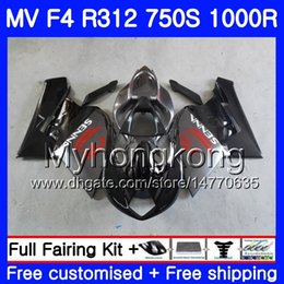 Fairings For Mv Agusta Australia - Bodywork Flat black stock For MV Agusta F4 R312 750S 1000 R 750 1000CC 05 06 kit 320HM.1 1000R 312 1078 1+1 MA MV F4 05 06 2005 2006 Fairing