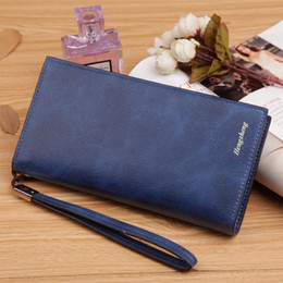 Wholesale Wrist Zipper Wallet Australia - Wholesale- Solid smooth leather long Women wallet with removable wrist strap brand designer female clutch purse carteira feminina