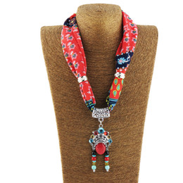 hijab accessories jewelry Australia - Chiffon scarf women alloy pendant jewelry necklace hijab summer print scarfs ring jewellery scarf accessories