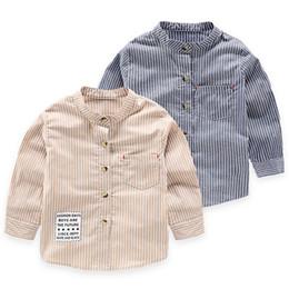 $enCountryForm.capitalKeyWord UK - Baby Boys Striped Shirts Spring New Style Children's Clothing Single-breasted Fashion Cool Kids Boy Long-sleeve Shirt Tops