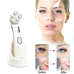 Remover Pen Australia - 5in1 RF&EMS Radio Mesotherapy Electroporation Face Beauty Pen Radio Frequency LED Photon Face Skin Rejuvenation Remover Wrinkle