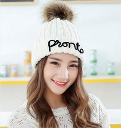 $enCountryForm.capitalKeyWord Australia - Fashion new Rabbit hair Hat women girls winter knitting wool cap hat to care for ear winter new double thick warm cap hat