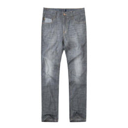 Discount grey distressed jeans - Men Casual Grey Regular Fit Jeans for Motor Work Wear Distress Grey Branded