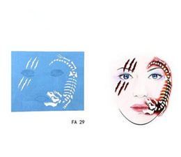 $enCountryForm.capitalKeyWord Australia - 7pcs set Face Paint Stencil Reusable Eye Template Different DIY Design Painting For Halloween Christmas Tattoo Makeup Tool 2018