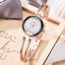 Korean Small Watch Australia - New Delicate Alloy Bracelet Watch Korean Fashion Small Ladies Fashion Watch