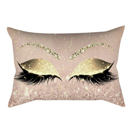 weaving eyelashes NZ - Eyelash Out Soft Velvet Cushion Cover Case 30x50cm Marble Pillow Covers Decorations Sofa House Fashion Home Textile